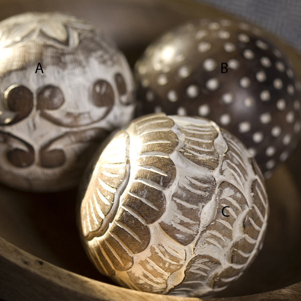 Wooden Decorative Balls Stunning Mia Bella Casa Limiteddecorative Hand Carved Wooden Ball Decorating Design